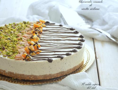 Cheesecake cannolo di ricotta siciliano