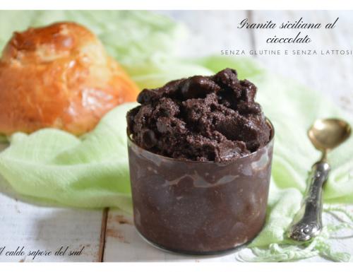 Granita siciliana al cioccolato senza gelatiera