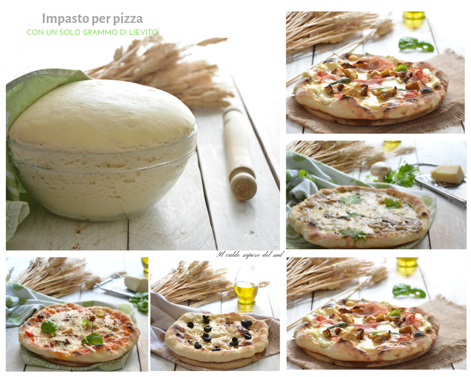 Impasto per pizza con un grammo di lievito