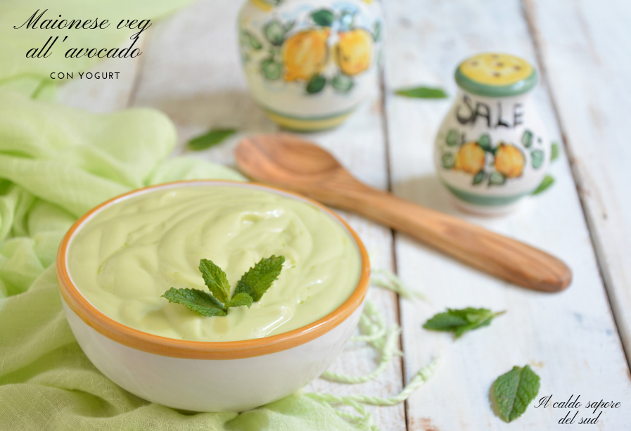 Maionese veg con yogurt e avocado