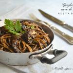 Spaghetti al nero di seppia alla siciliana