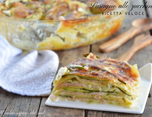 Lasagne al forno con zucchine ricetta veloce