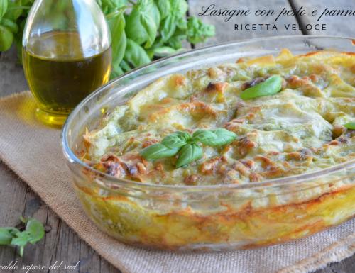 Lasagne con pesto e panna ricetta veloce