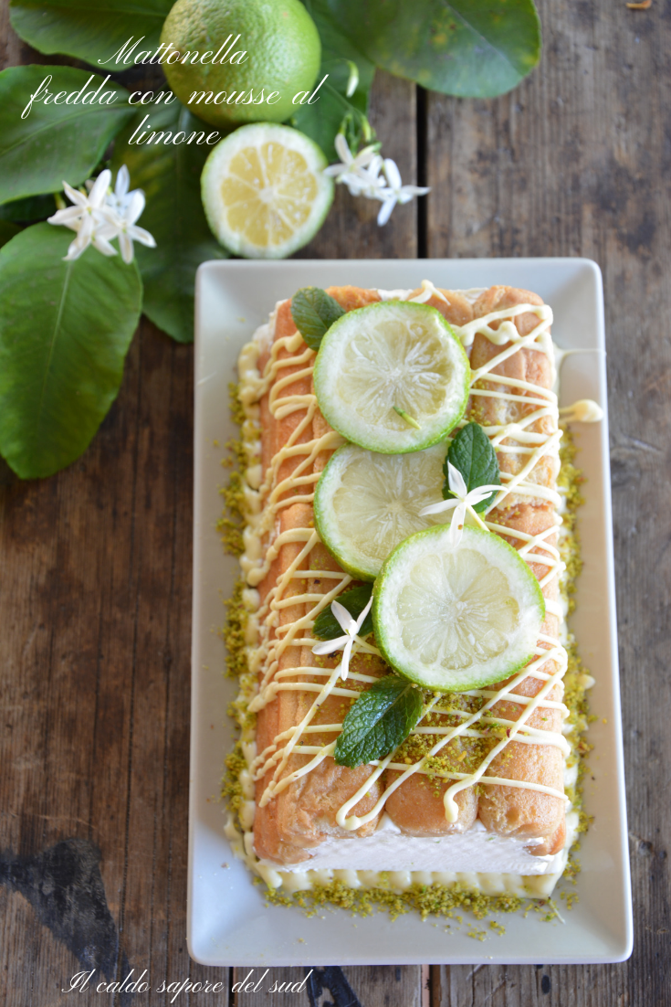 Mattonella fredda con mousse al limone ricetta facile