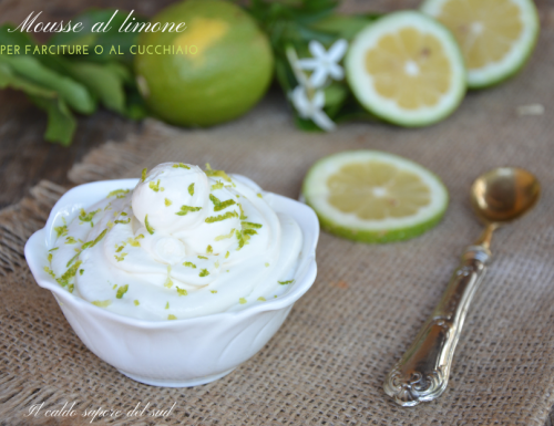 Mousse al limone per farciture o dolci al cucchiaio