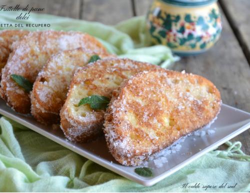 Frittelle di pane dolci con pane raffermo