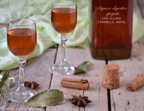 Liquore digestivo alle spezie con alloro cannella e anice