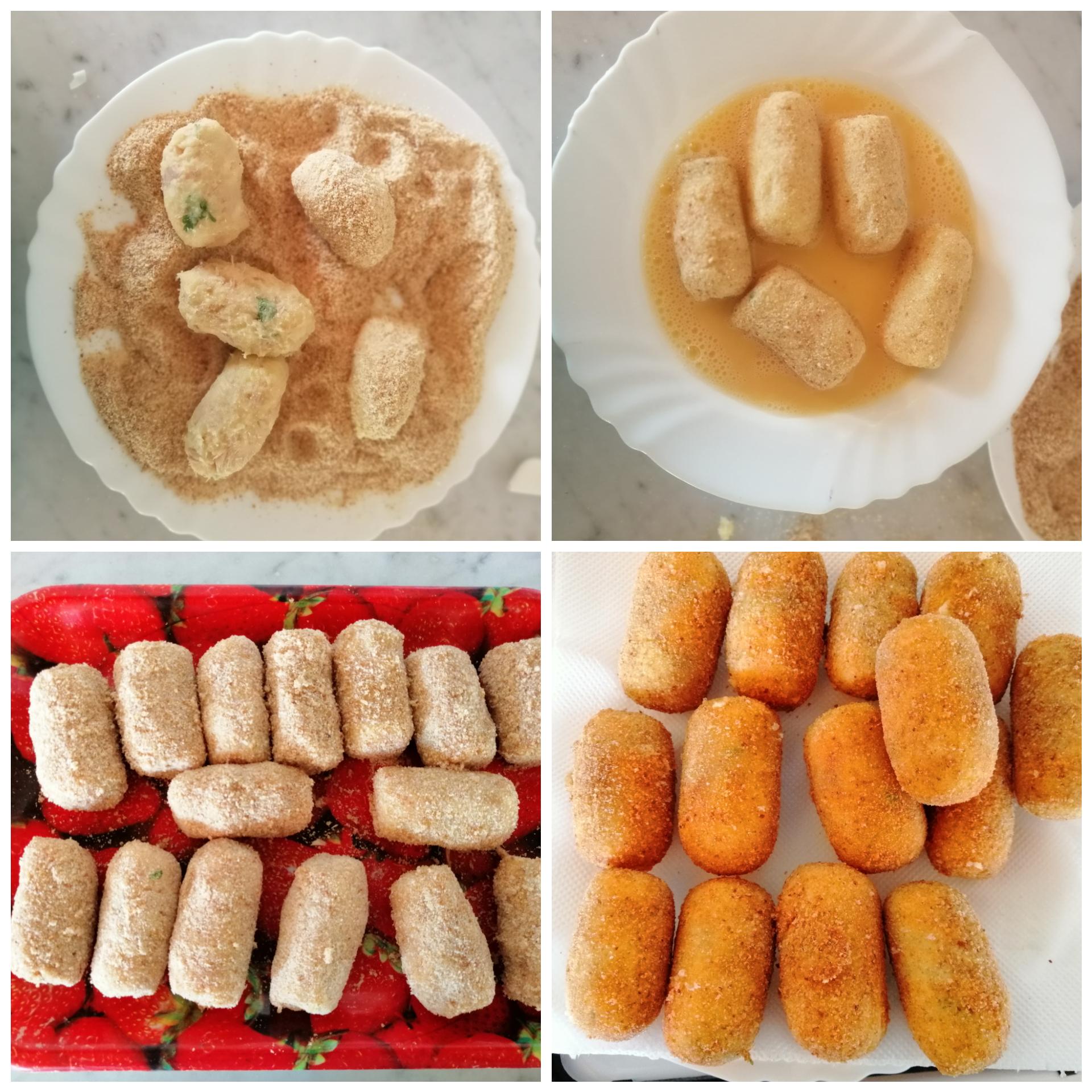 Crocchette di patate e tonno con cuore filante