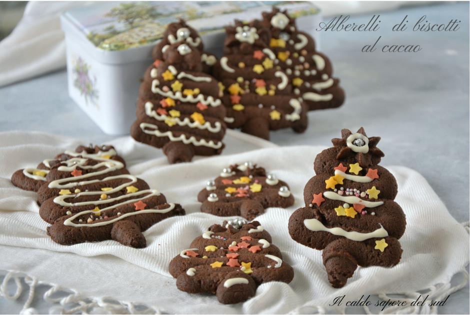 Alberelli di biscotti al cacao