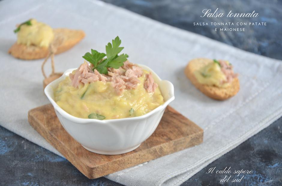 Salsa tonnata con patate e maionese