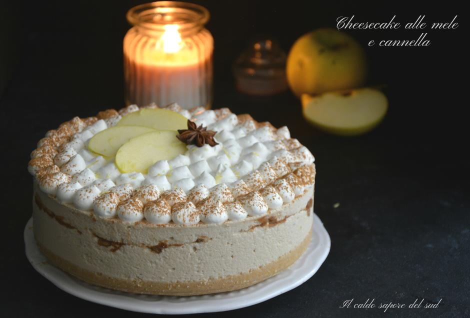 Cheese cake alle mele e cannella