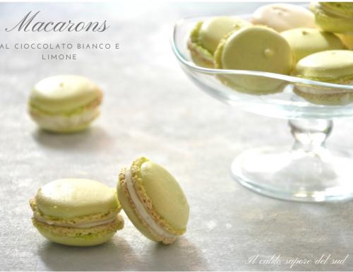 Macarons al cioccolato bianco e limone