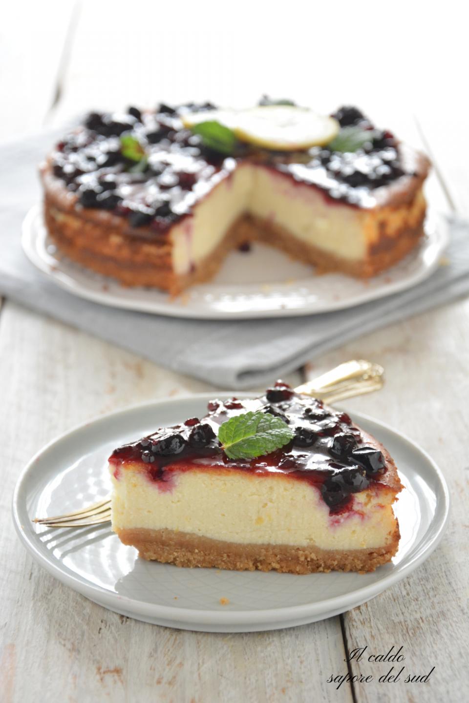 Cheesecake cotta con ricotta e panna