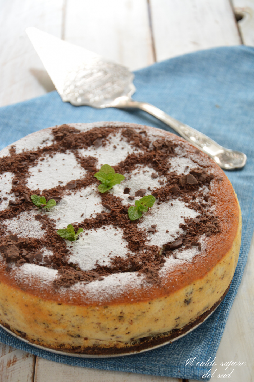 Cheesecake cotta ricotta e cioccolato