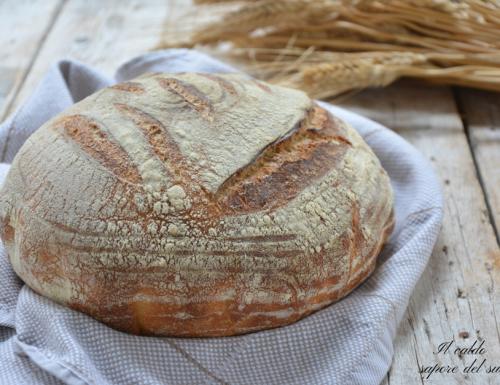 Pane facile con lievito madre cotto in pentola