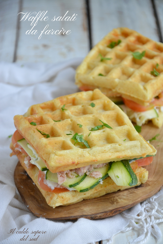 Waffel o waffle  salati da farcire