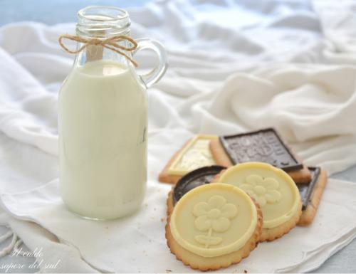 Biscotti al burro con placche di cioccolato