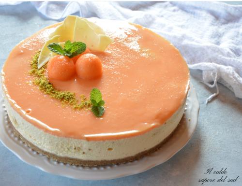 Cheesecake al melone senza yogurt e senza cottura