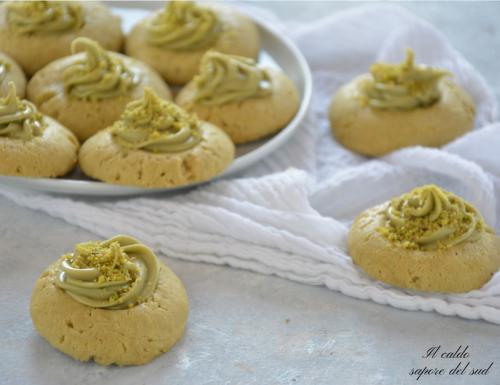 Pistacchiotti biscotti morbidi con crema al pistacchio