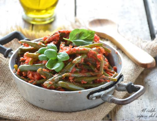Fagiolini al pomodoro ricetta siciliana