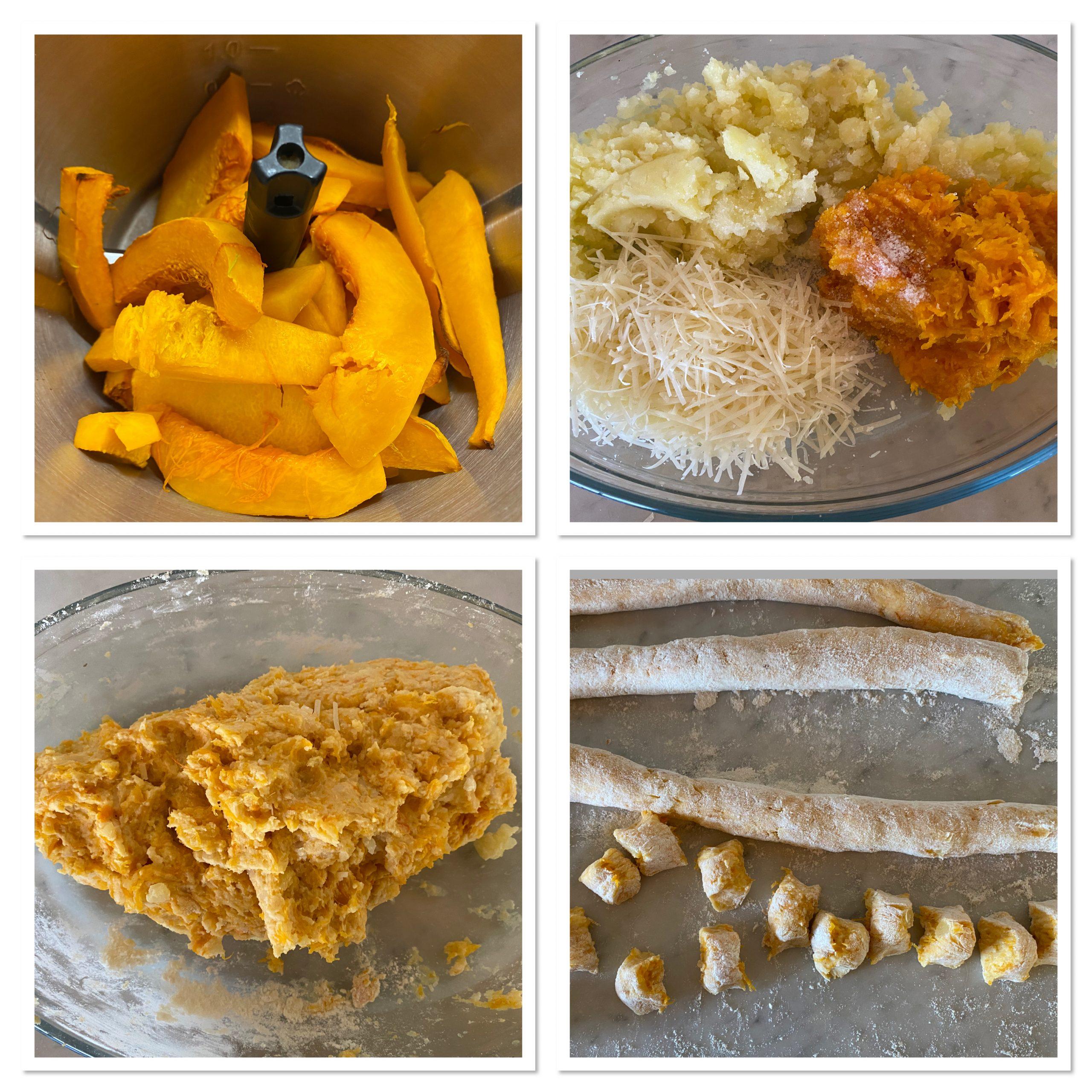 Gnocchi di zucca e patate senza uova