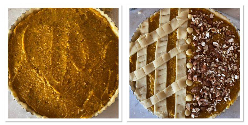 crostata di zucca gialla
