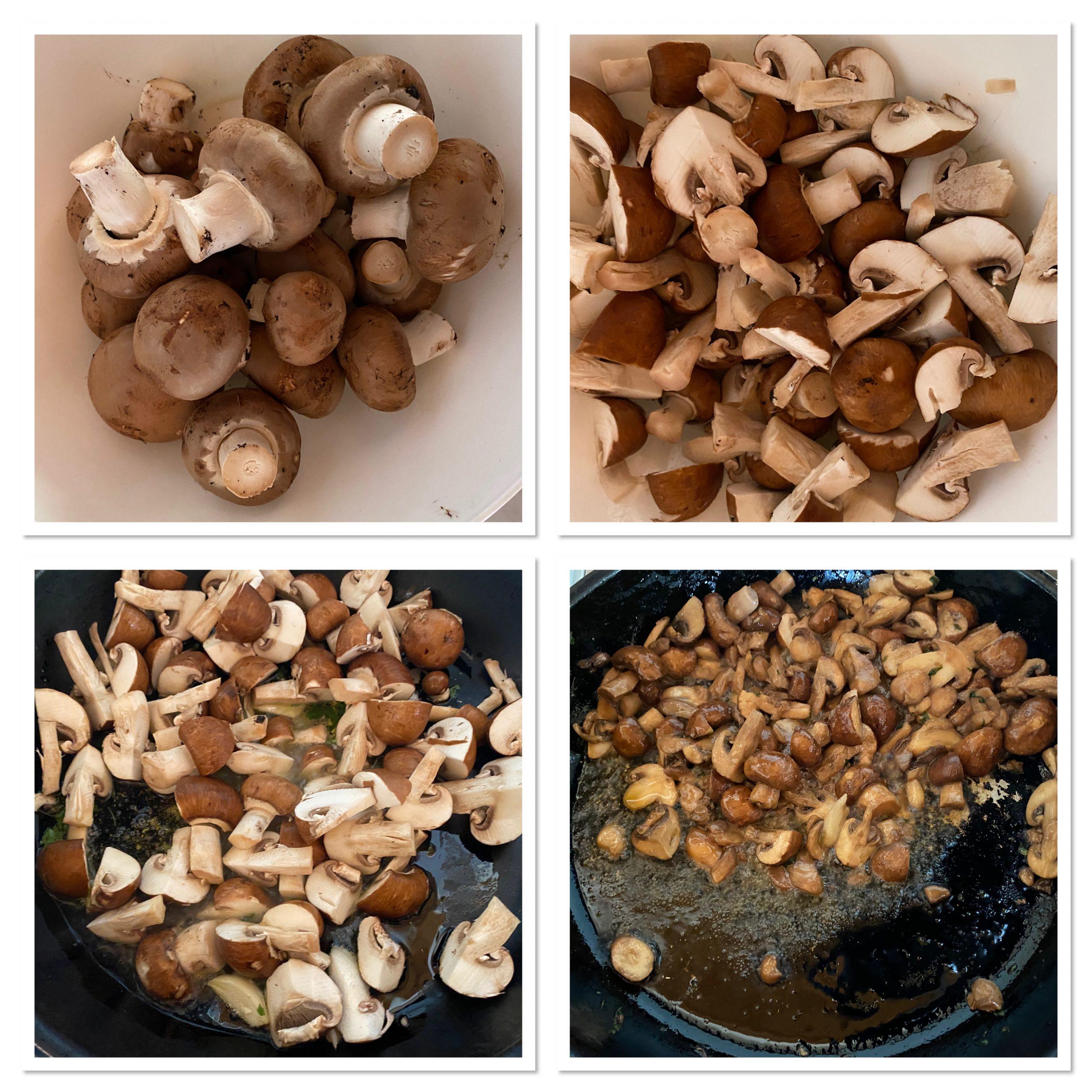 Petto di pollo ai funghi cremoso