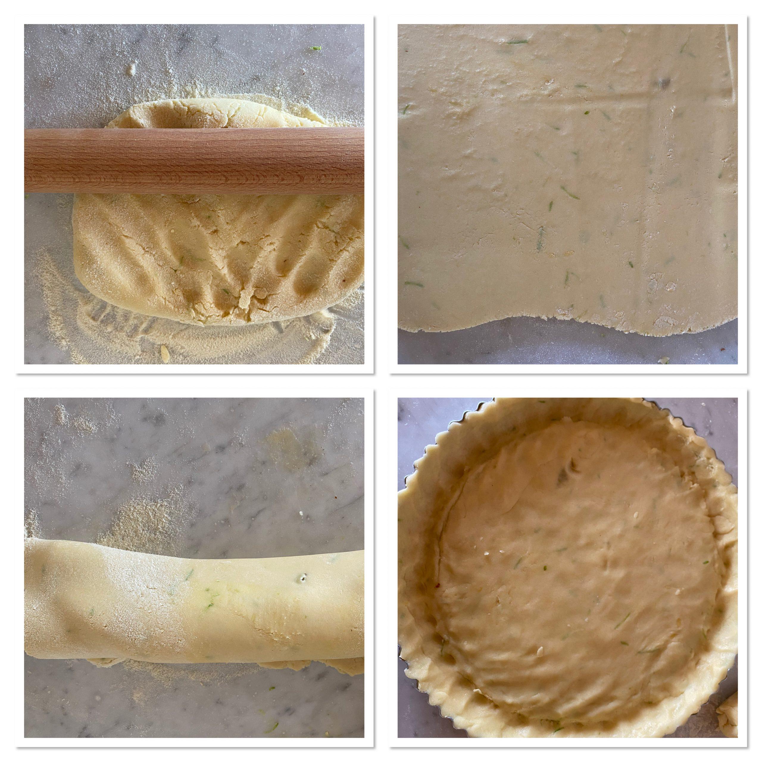 Crostata di zucca gialla con mandorle e cannella