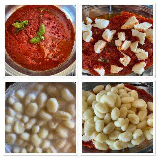 Gnocchi Filanti con mozzarella e pomodoro ricetta velocissima