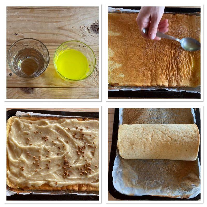 Rotolo torta della nonna al limone