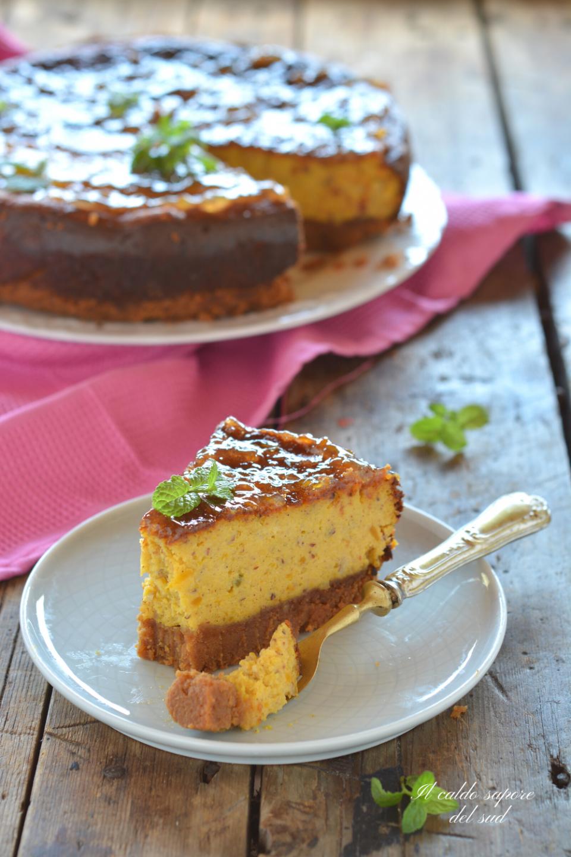Cheesecake alla zucca fatta in casa