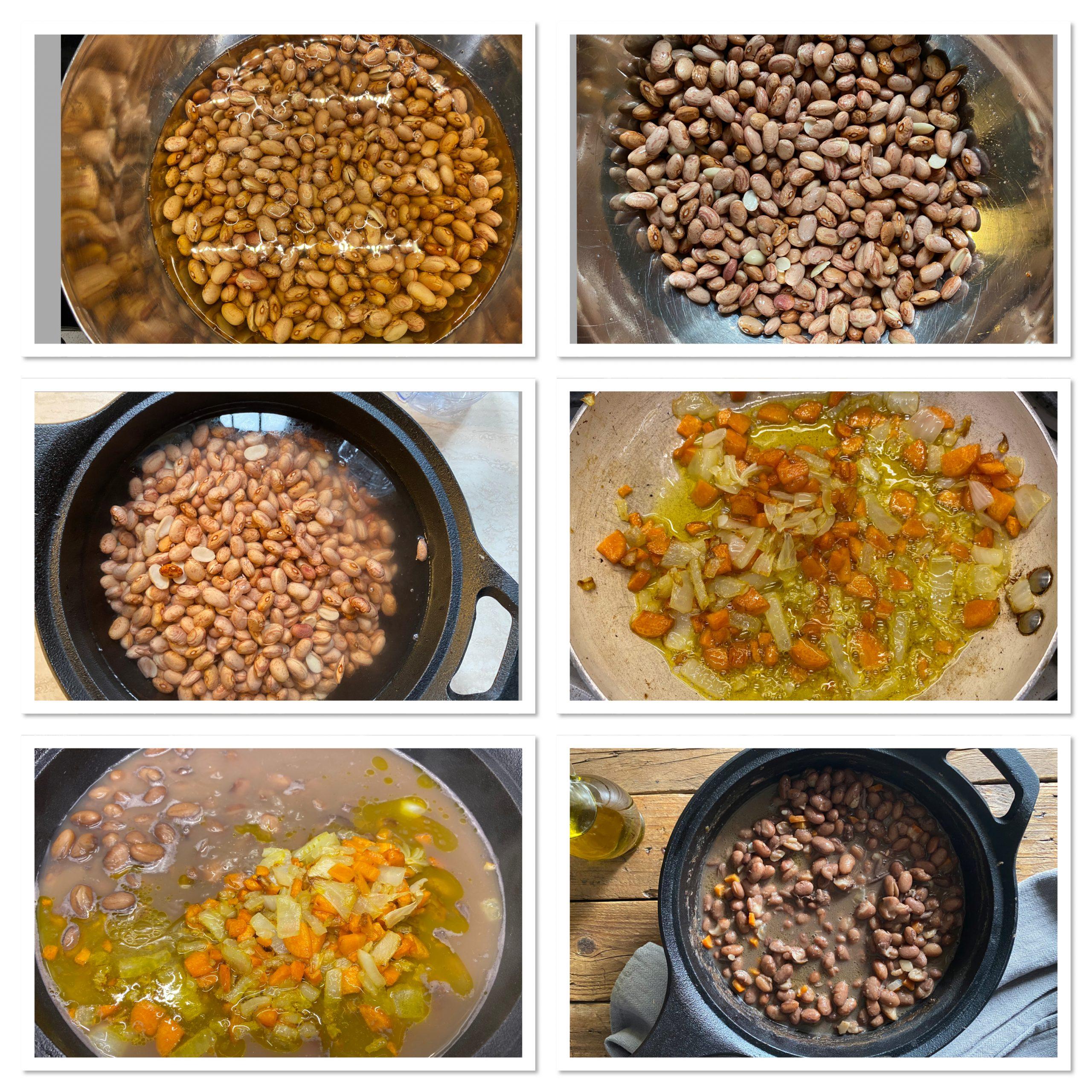 Minestra di fagioli secchi ricetta della nonna