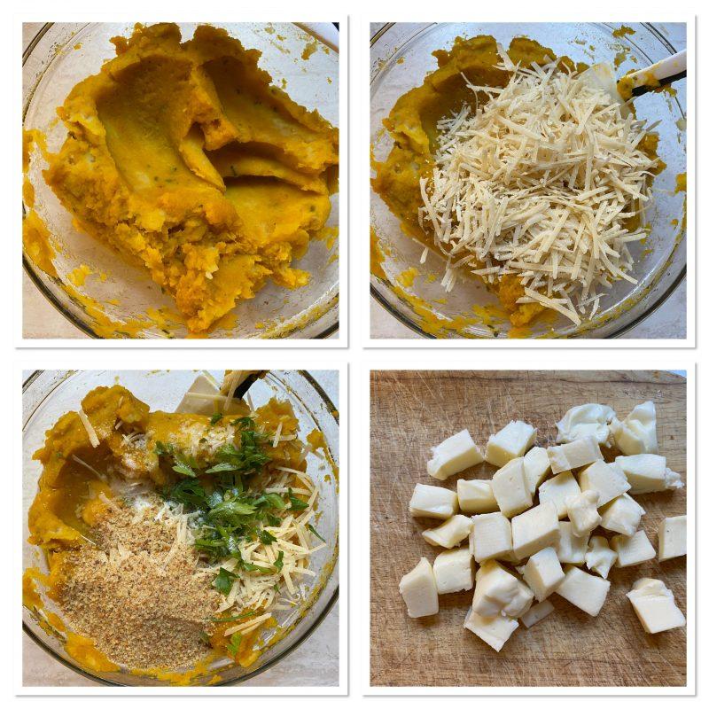 Crocchette di zucca e patate nella friggitrice ad aria