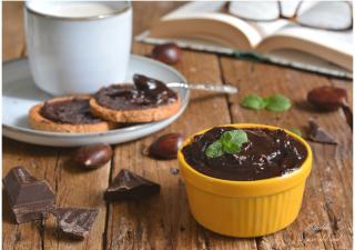 Crema di castagne e cioccolato fondente