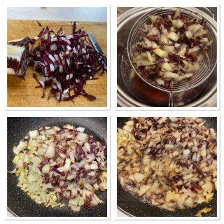 Pasta al radicchio e parmigiano