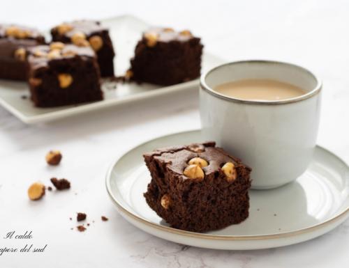 Torta al cioccolato fondente e nocciole