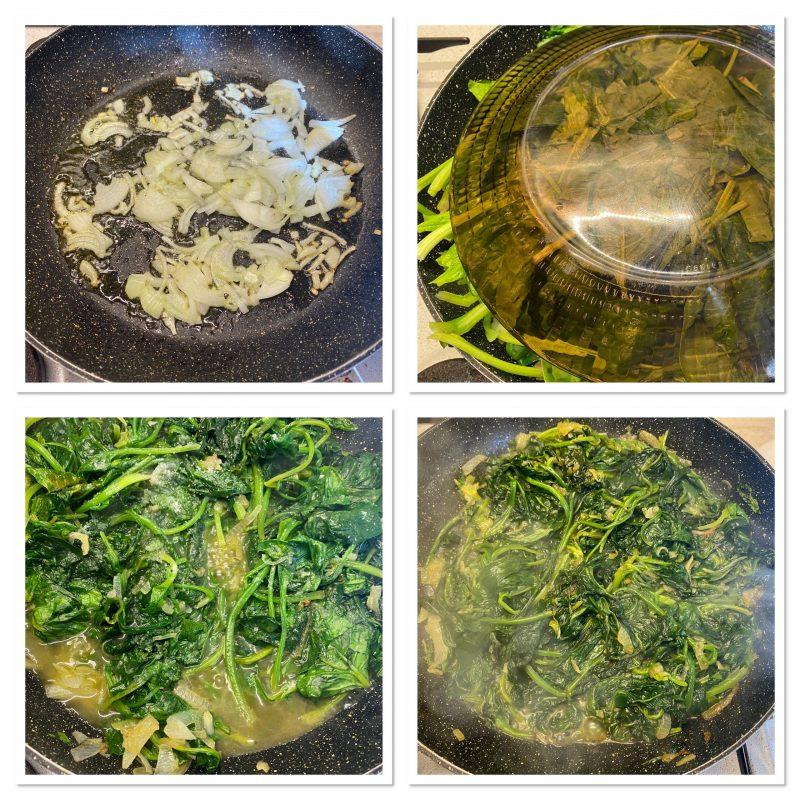Torta rustica con spinaci prosciutto e formaggio