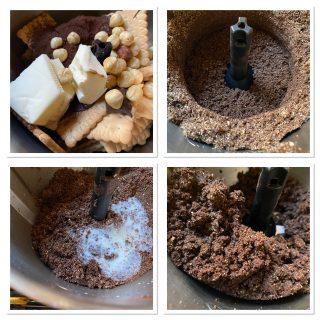 Torta al cocco e cioccolato bianco con base al cacao