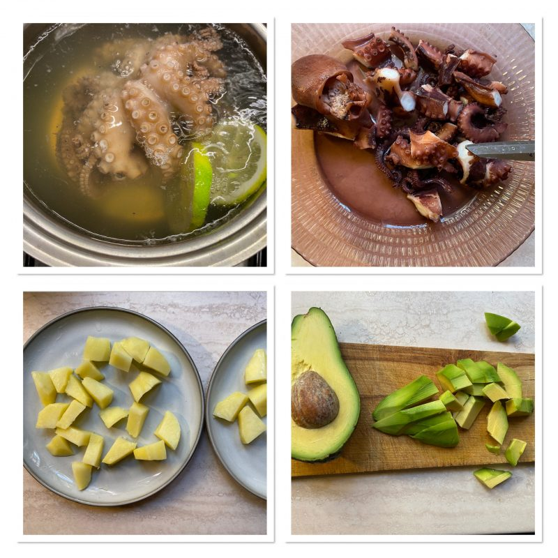 Insalata di polpo con patate e avocado