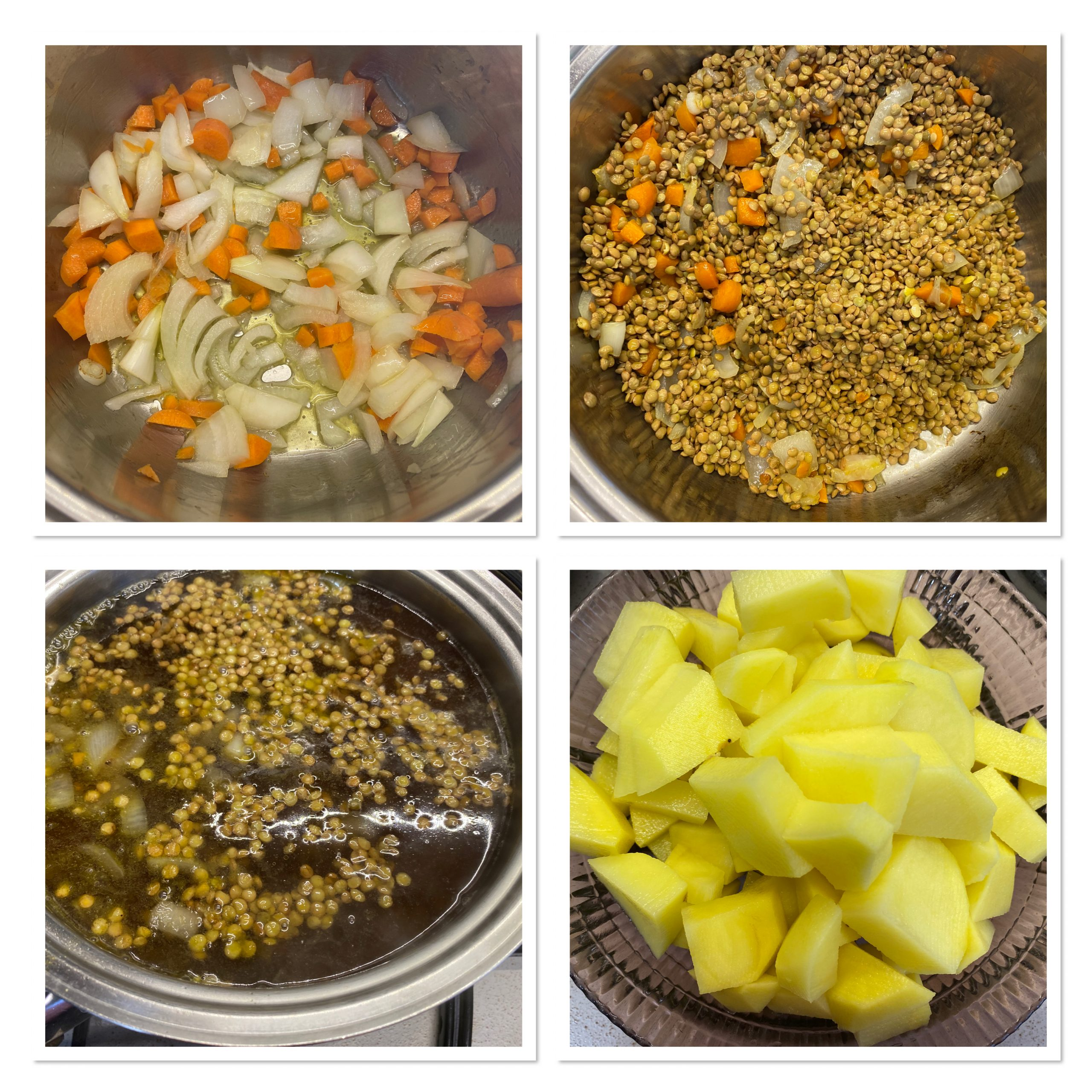Zuppa di lenticchie e patate ricette della nonna
