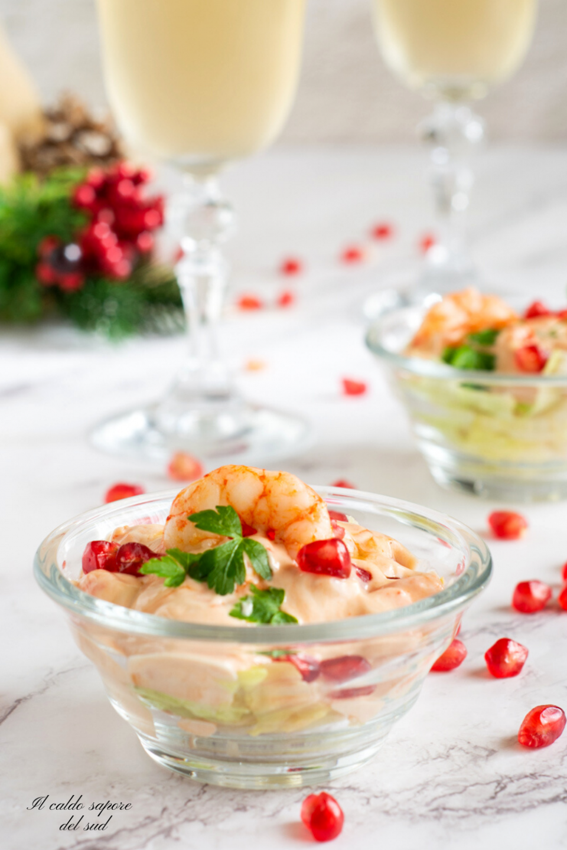 Gamberetti in salsa cocktail antipasto veloce