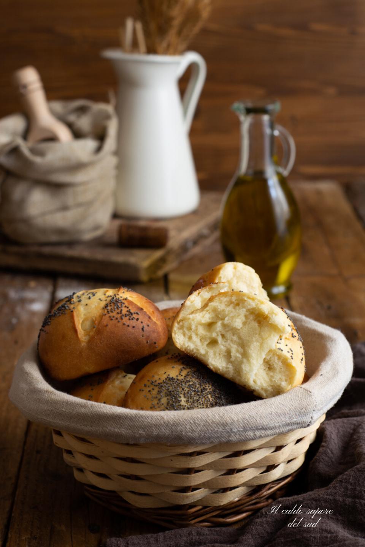 Panini al latte con olio d'oliva e semola rimacinata
