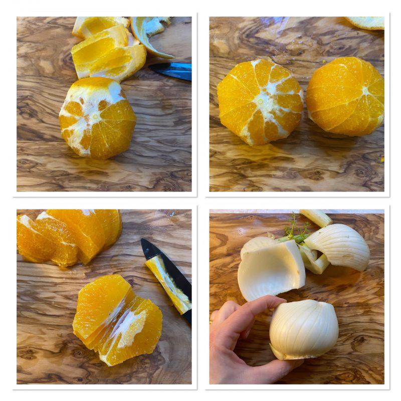 Insalata di finocchi e arance alla siciliana con mandorle tostate