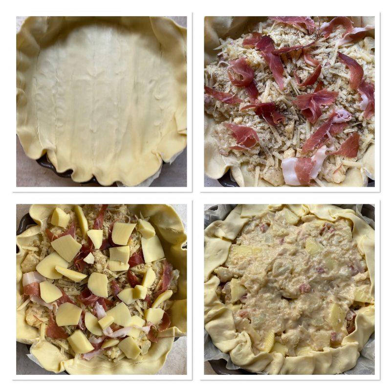 Torta salata al cavolfiore e speck con pasta sfoglia