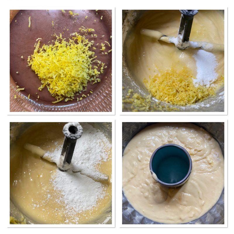ciambella panna e limone conglassa al cioccolato bianco e pistacchio