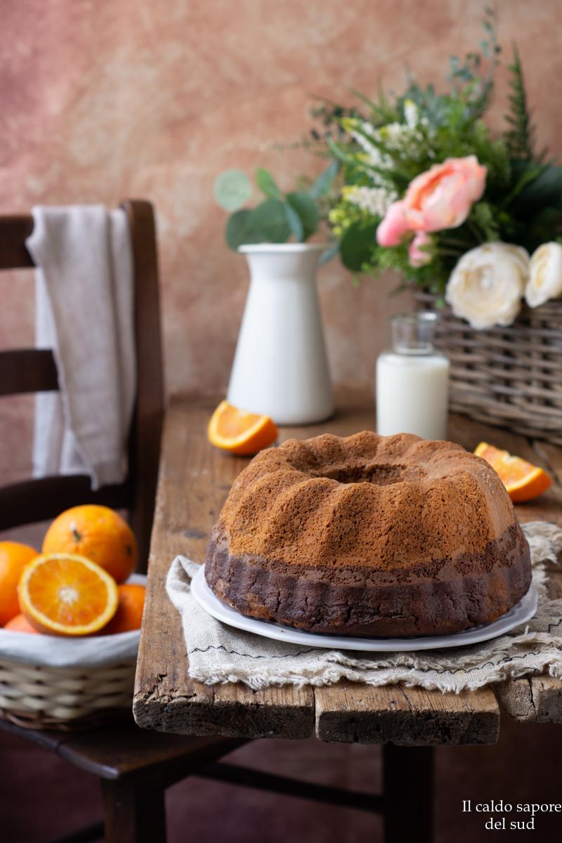 Ciambella cioccolato e arancia alla panna
