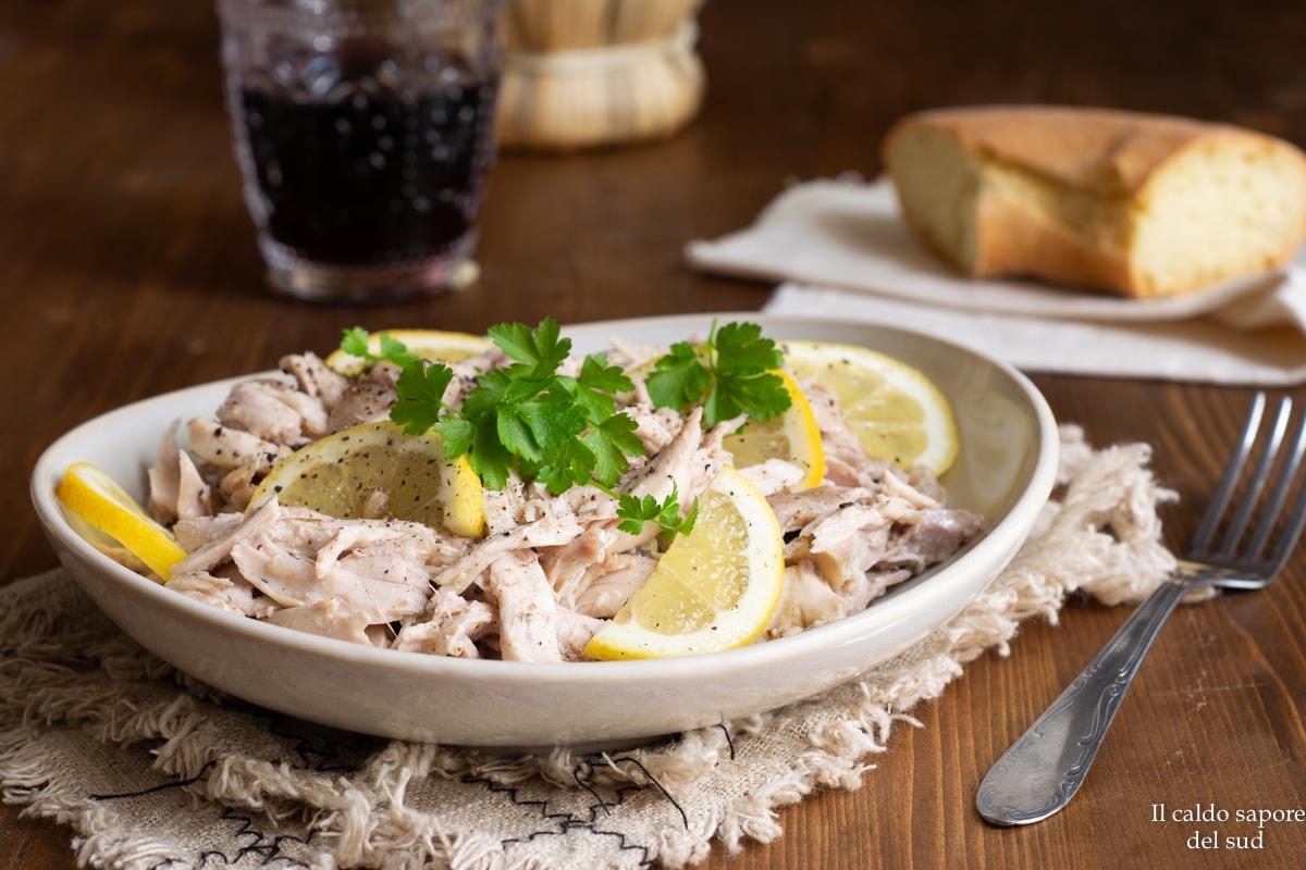 Insalata di pollo light al limone