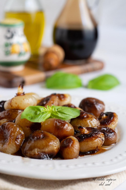 Cipolline borettane al forno con aceto balsamico