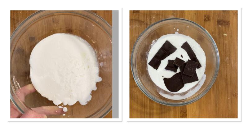 Crostata con ganache al cioccolato fondente fragole e kiwi