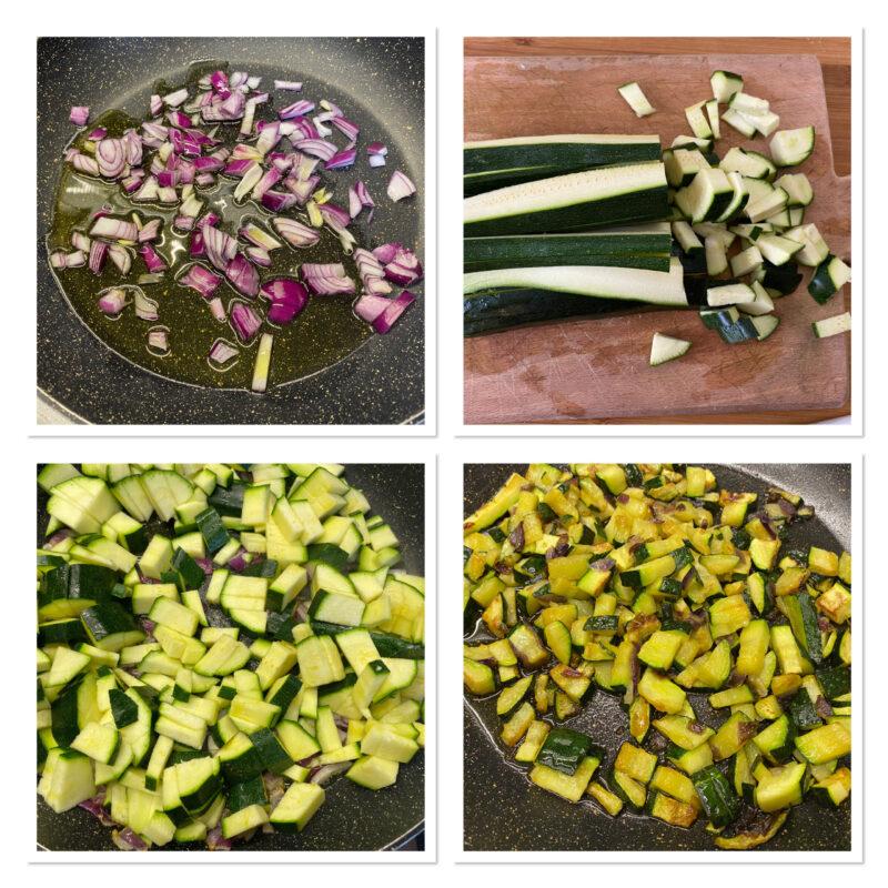 Gnocchi zucchine salmone e panna cremosi
